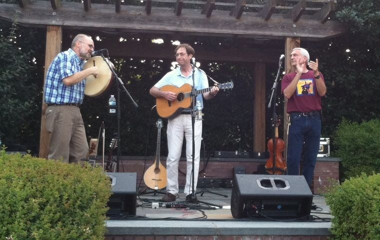 Virgil, Richard, and Jeff playing at Cary Starlight concert